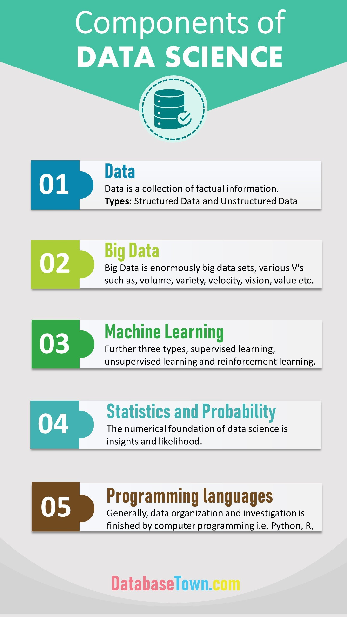 Components of data science infographic