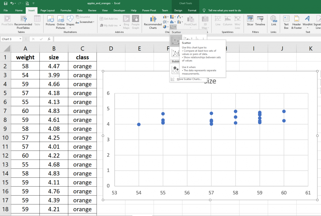 simple linear regression in excel