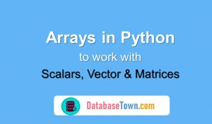 Scalars, Vector and Matrices in Python (Using Arrays)