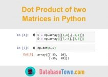 Dot Product of Two Matrices in Python