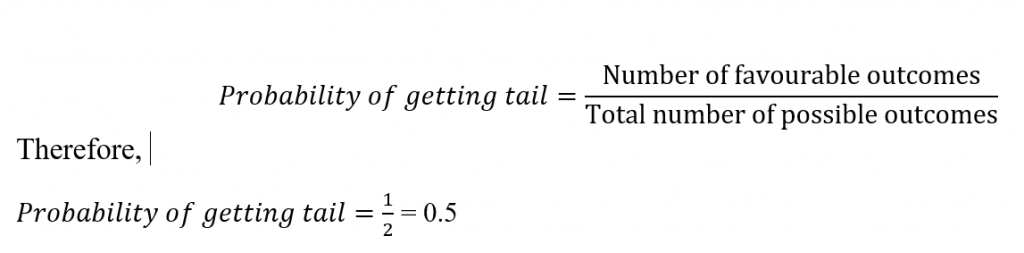 probability of getting tail